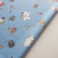 Moomin/ムーミン ヴィンテージファブリック/ブルー 88×120