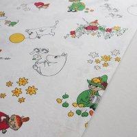 Moomin/ムーミン ヴィンテージファブリック/アイボリー 141×96