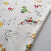 Moomin/ムーミン ヴィンテージファブリック/アイボリー 142×96