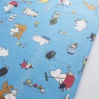 Moomin/ムーミン ヴィンテージファブリック/ブルー 120×95