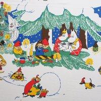 Moomin/ムーミン ヴィンテージファブリック/クリスマス 132×168