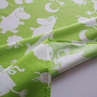 Moomin/ムーミン ヴィンテージファブリック/グリーン 120×108