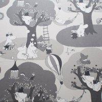 Moomin/ムーミン ファブリック ツリー/グレー 148×95