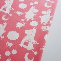 Moomin ヴィンテージファブリック/ピンク 118×78