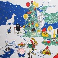 Moomin ヴィンテージファブリック/クリスマス 133×169
