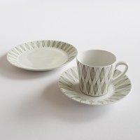 【訳あり】ARABIA Vuokko コーヒーカップ&ソーサーとケーキプレート
