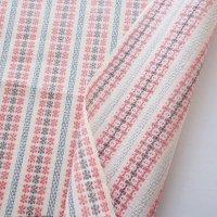 北欧から届いたピンク×グレー織物クロス 70×49/切売り