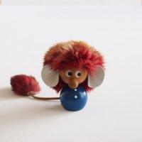 小さな妖精トロールの木製レトロ人形/置物