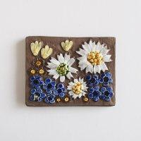 《期間限定値引》Jie Gantofta 陶板/白い花
