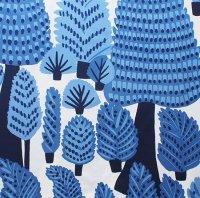 marimekko ファブリック Metsanvaki/ブルー/切売り 146×95