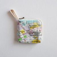 London map キャンバスファスナーカードケース