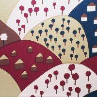marimekko/マリメッコ ヴィンテージファブリック Oka/ブラウン 125×98
