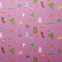 marimekko/マリメッコ ファブリック Afrikan Kuningatar/ピンク 116×71 切売り