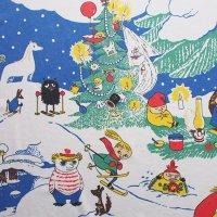 Moomin/ムーミン ファブリック/クリスマス 135×80