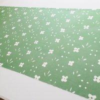 《期間限定値引》【訳あり】marimekko/マリメッコ ヴィンテージファブリック Kukkaketo/グリーン 128×61