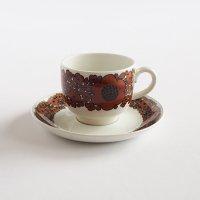 ARABIA/アラビア Suhina コーヒーカップ&ソーサー/ブラウン