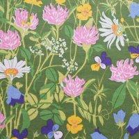 北欧ヴィンテージファブリック Boras/草原の花 144×45