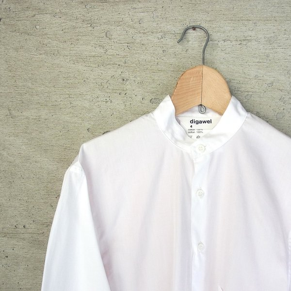 DIGAWEL | BACK STRIPE SHIRT(WHITE x RED STRIPE)