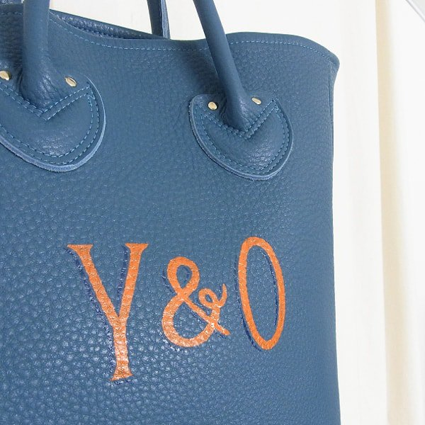 YOUNG & OLSEN The DRYGOODS STORE | PAINTER'S LEATHER TOTE(OCEAN)