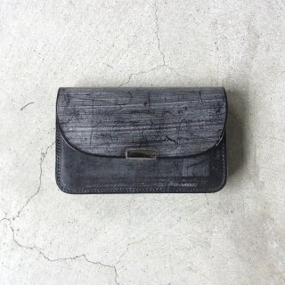 [ 予約商品 ] DIGAWEL | GARCON PURSE BRIDLE LEATHER(BLACK)
