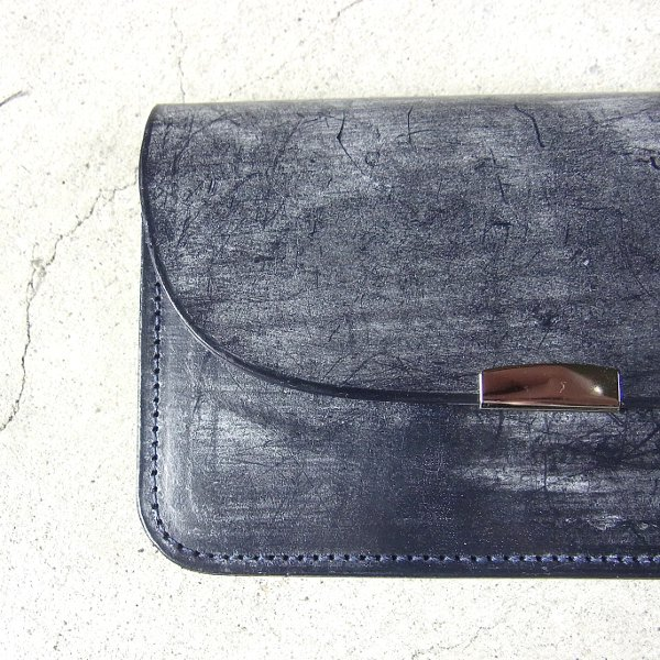 DIGAWEL | GARCON PURSE BRIDLE LEATHER(NAVY)