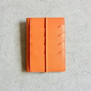 DIGAWEL | PASSPORT CASE CALF LEATHER(ORANGE)