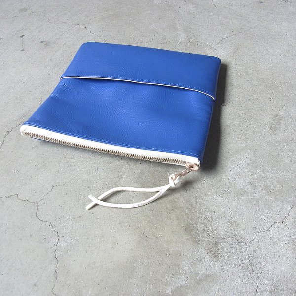 DIGAWEL | LEATHER POUCH SMALL(BLUE)