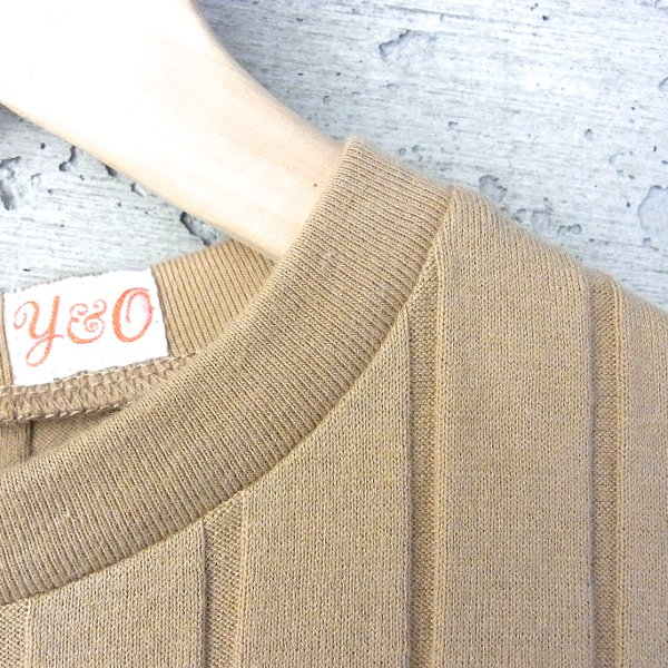 YOUNG & OLSEN The DRYGOODS STORE | BROAD RIB CREW NECK(CAMEL)