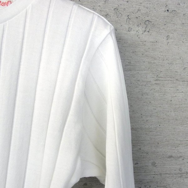 YOUNG & OLSEN The DRYGOODS STORE | BROAD RIB CREW NECK LS(WHITE)