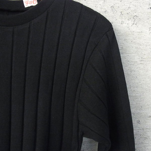 YOUNG & OLSEN The DRYGOODS STORE | BROAD RIB CREW NECK LS(BLACK)