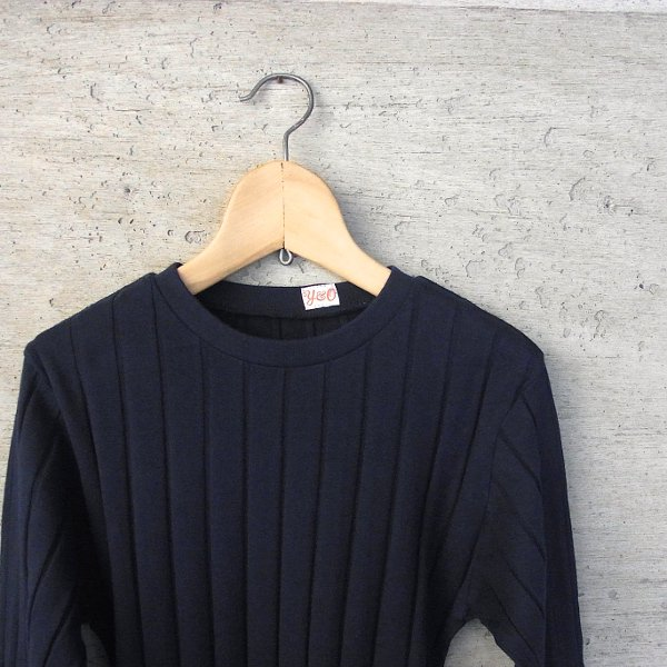 YOUNG & OLSEN The DRYGOODS STORE | BROAD RIB CREW NECK LS(NAVY)
