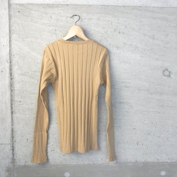 YOUNG & OLSEN The DRYGOODS STORE | BROAD RIB CREW NECK LS(CAMEL)