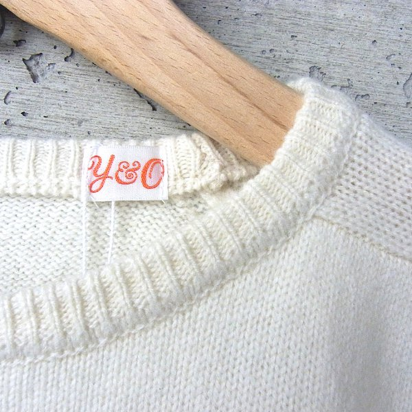 YOUNG & OLSEN The DRYGOODS STORE | DAD'S SWEATER CREW NECK(WHITE)