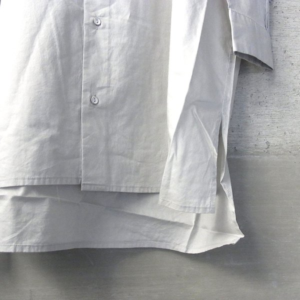 Ordinary fits | LONG BARBER SHIRT(GRAY)