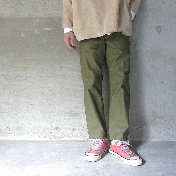 【40%OFFセール】Ordinary fits | NEW BAREFOOT FATIGUE PANTS(OLIVE)