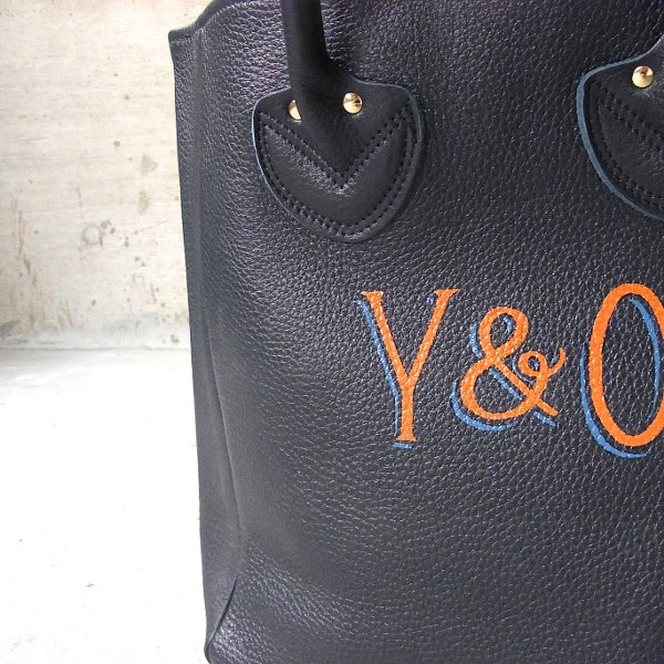 YOUNG & OLSEN The DRYGOODS STORE | PAINTER'S LEATHER TOTE(NAVY)