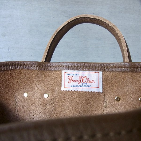YOUNG & OLSEN The DRYGOODS STORE | PAINTER'S LEATHER TOTE(BROWN)