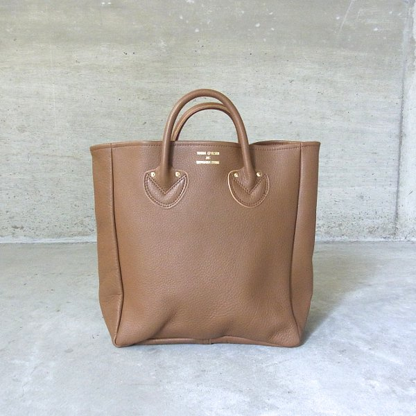 YOUNG & OLSEN The DRYGOODS STORE | EMBOSSED LEATHER TOTE M(BROWN)