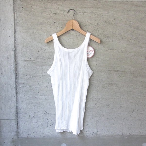 【40%OFFセール】YOUNG & OLSEN The DRYGOODS STORE | RANDOM RIB BACKWARDS TANKTOP(WHITE)