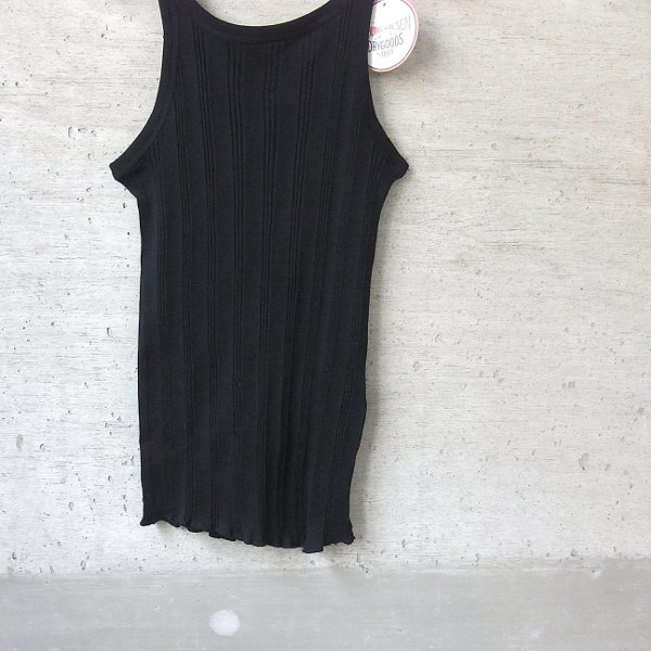 【40%OFFセール】YOUNG & OLSEN The DRYGOODS STORE | RANDOM RIB BACKWARDS TANKTOP(BLACK)