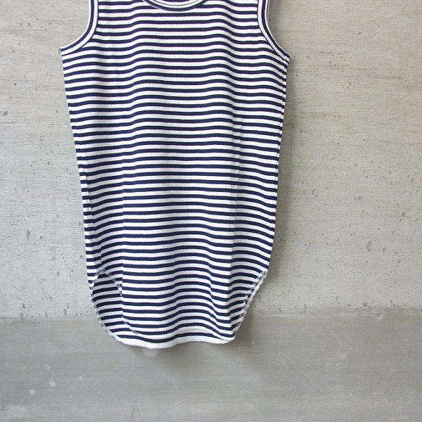 CURLY | AZTEC BORDER TANK(WHITE x NAVY)
