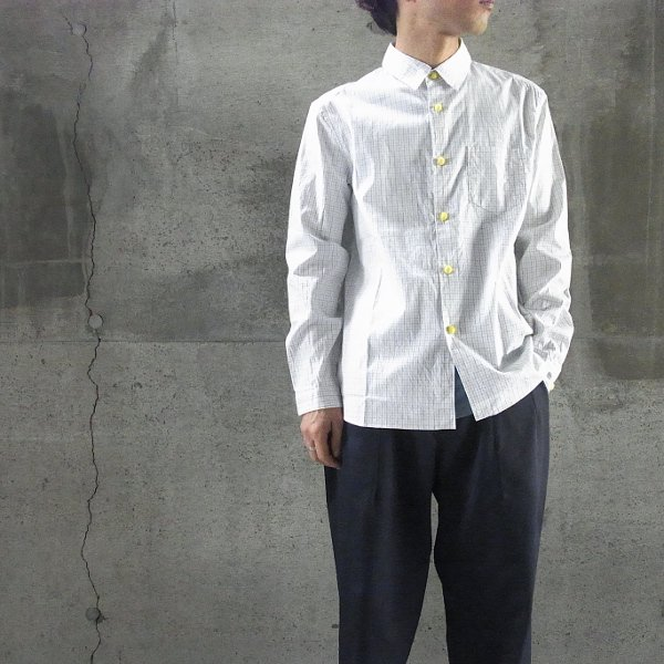DIGAWEL | FELT BUTTON SHIRT(CHECK1)