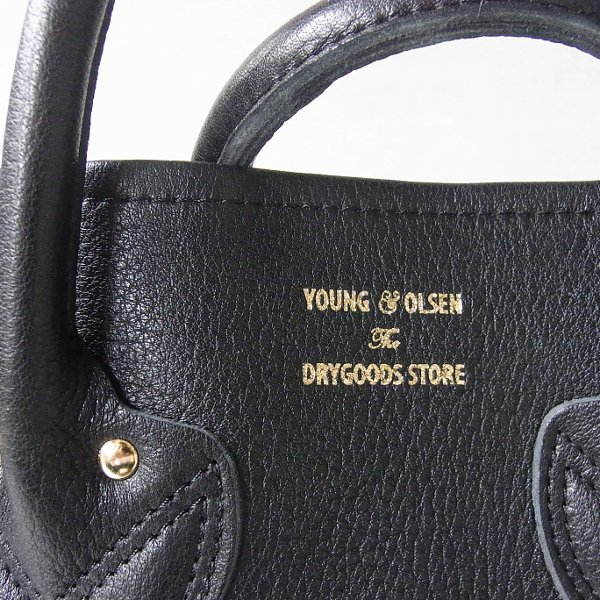 YOUNG & OLSEN The DRYGOODS STORE | EMBOSSED LEATHER TOTE L(BLACK)
