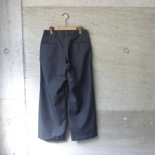 Ordinary fits   NEW PARK TROUSER wool(CHARCOAL)
