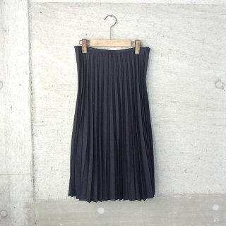 ian | accordion pleated skirt(black)