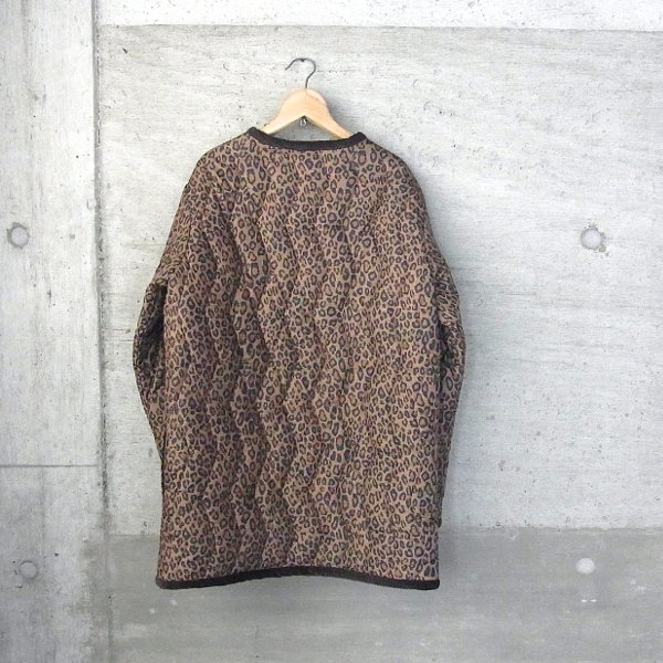 YOUNG & OLSEN The DRYGOODS STORE | LEOPARD QUILT JACKET(BROWN)