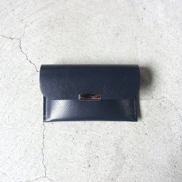 DIGAWEL | CARD CASE CALF LEATHER(NAVY)