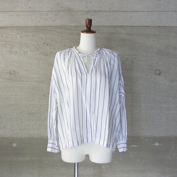 Ordinary fits | FLORIST BLOUSE stripe(WHT)