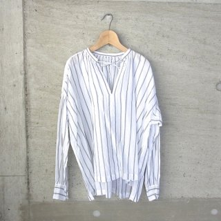 30%OFF | Ordinary fits | FLORIST BLOUSE stripe(WHT)