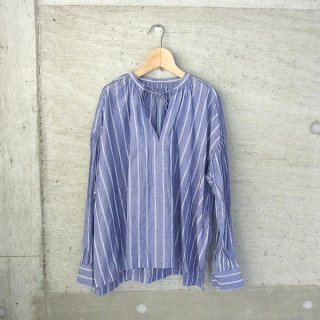 Ordinary fits | FLORIST BLOUSE stripe(NVY)